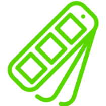 waaier-groen